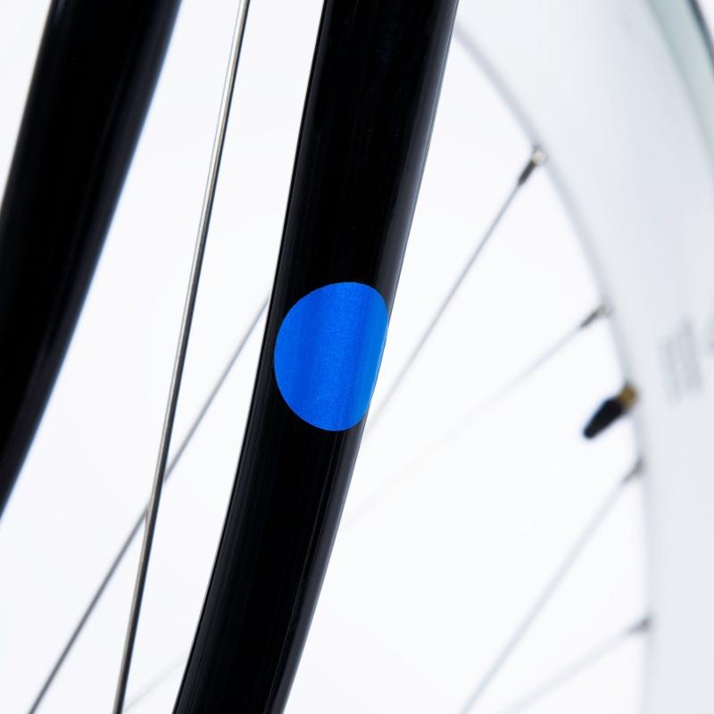 bookman sticky reflectors blau reflektierende aufkleber f rs fahrrad 6 90. Black Bedroom Furniture Sets. Home Design Ideas