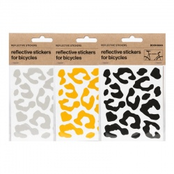 BOOKMAN Reflective Leopard Print Stickers