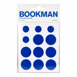 BOOKMAN Sticky Reflectors blue (12 pcs.)