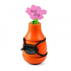 Bicycle Vase / Handlebar Vase Frieda (orange)