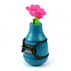 Bicycle Vase / Handlebar Vase Frieda (blue)