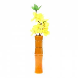 Cherry Wood Handlebar Vase (yellow)