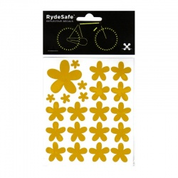 RydeSafe Reflective Bike Decals Flowers Kit (yellow)
