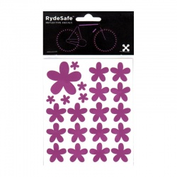 RydeSafe Reflective Bike Decals Flowers Kit (purple / violet)