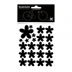 RydeSafe Reflective Bike Decals Flowers Kit (black)