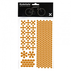 RydeSafe Reflective Bike Decals Modular - Yellow (Medium)