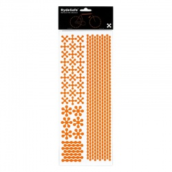 RydeSafe Reflective Bike Decals Modular - Orange (Jumbo)