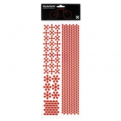 RydeSafe Reflective Bike Decals Modular - red (Jumbo)