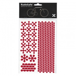 RydeSafe Reflective Bike Decals Modular - Red (Medium)