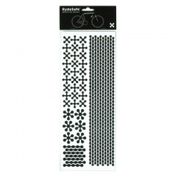 RydeSafe Reflective Bike Decals Modular - Black (Jumbo)