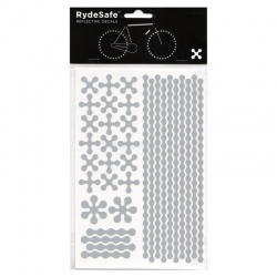 RydeSafe Reflective Bike Decals Modular - White / Silver (Medium)