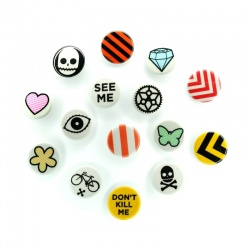Rydesafe Reflective Buttons / Pins / Badges