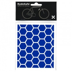 RydeSafe Reflective Bike Decals Hexagon - Blue (Small)