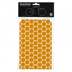 RydeSafe Reflective Bike Decals Hexagon - Yellow (Medium)