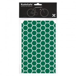 RydeSafe Reflective Bike Decals Hexagon - Green (Medium)
