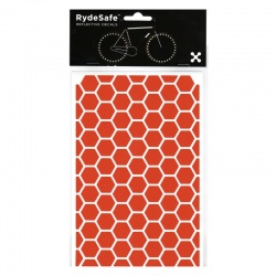 RydeSafe Reflective Bike Decals Hexagon - Orange (Medium)