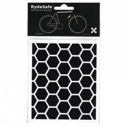 RydeSafe Bike Decals Hexagon - Reflektierende Sticker (schwarz / Small)