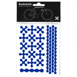 RydeSafe Reflective Bike Decals Modular - Blue (Small)