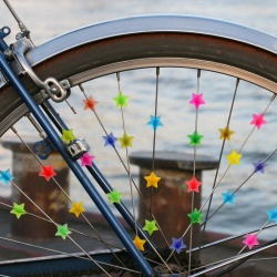 Bike Spoke Clips colorful Stars (35 pcs.)