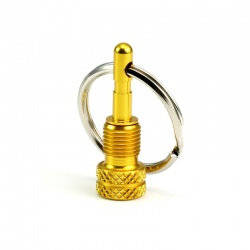 Valve Adapter (SV/AV) with Key Ring (gold)