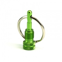 Valve Adapter (SV/AV) with Key Ring (green)