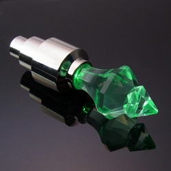Diamond WheelLight - LED Valvecap (Green)