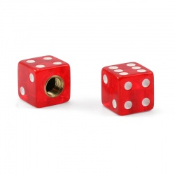 Trik Topz Valvecaps Dice (clear red, 2 pcs.)