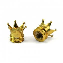 Valve Caps crown gold/silver (2 pcs.) golden