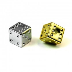 Valvecap Cube golden or silver (2 pcs.)