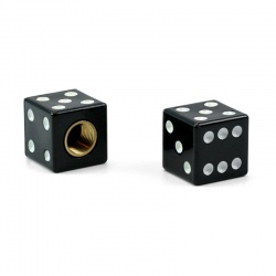 Valvecaps Dice (black, 2 pcs.)