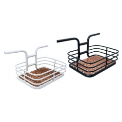 BRN Bike Porter - Aluminium Handlebar and Basket with wooden base