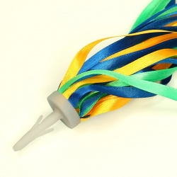 Satin Bike Streamer (blue/green/yellow)