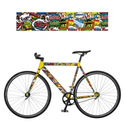 REMEMBER RadKleid Boom - Self-adhesive Bike Film