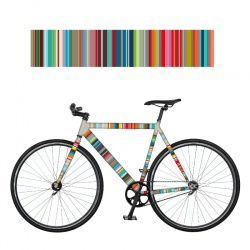REMEMBER RadKleid Micro-Stripes - Self-adhesive Bike Film