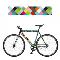 REMEMBER RadKleid Random - Self-adhesive Bike Film