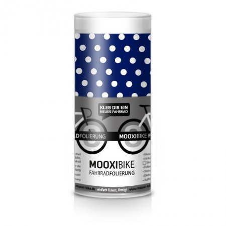 Mooxi-Bike Adhesive Bicycle Film Polka Dots (blue)