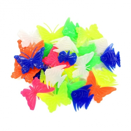 Colorful Bike Spoke Beads Butterflies and Fishes (35 pcs.)