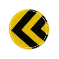 1x Road Sign (Black/Yellow)