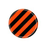 1x Road Sign (Black/Orange)