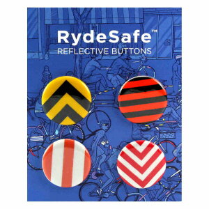 RydeSafe - Reflektierende Buttons Road Signs (4er-Pack)