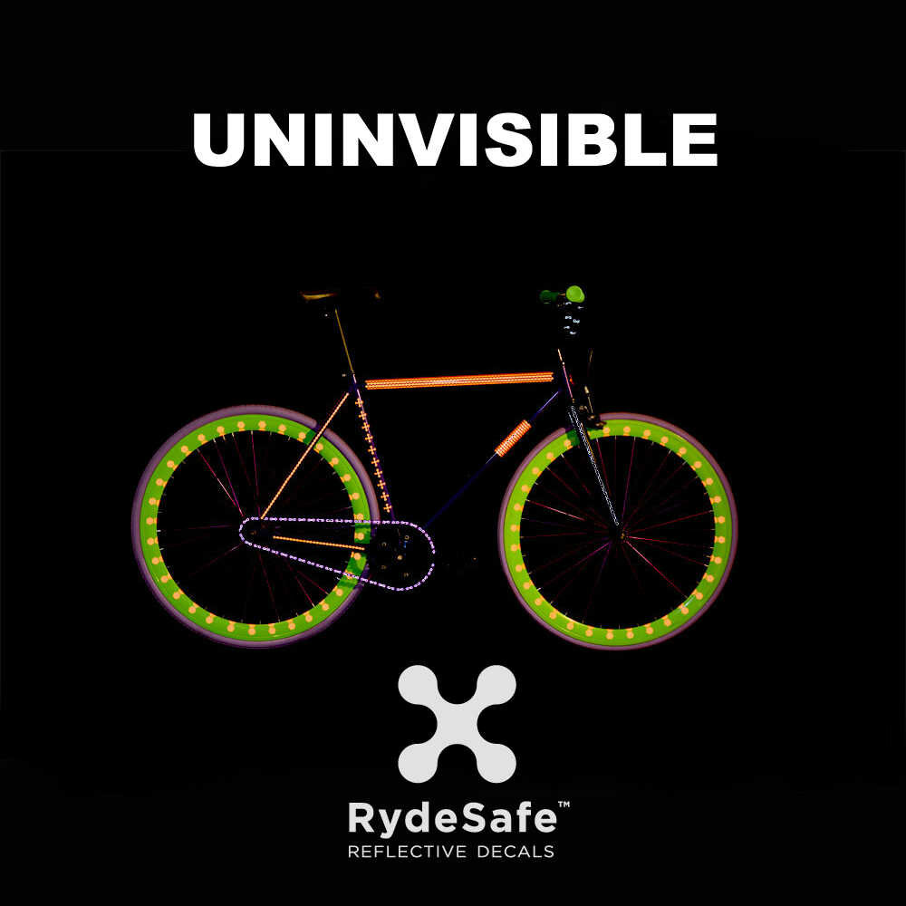 RydeSafe Reflective Bike Decals Chain Wrap Kits - Reflektierende Sticker für die Kette