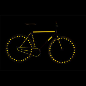 RydeSafe Reflective Bike Decals Flowers Kit -...