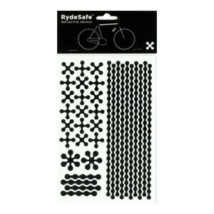 RydeSafe Reflective Bike Decals Modular - LARGE (schwarz)