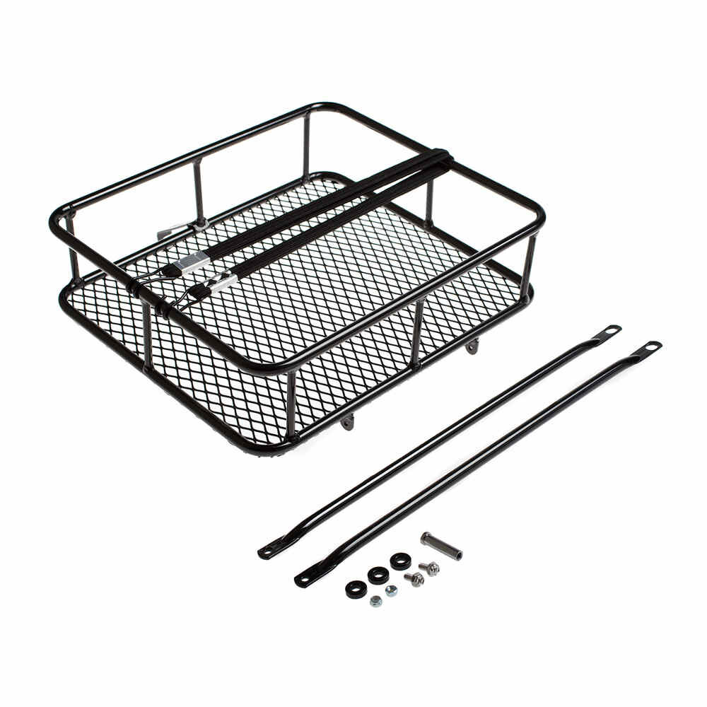 BLB Take Away Tray - Stilvoller Front-Transportkorb (Chrom / Schwarz)
