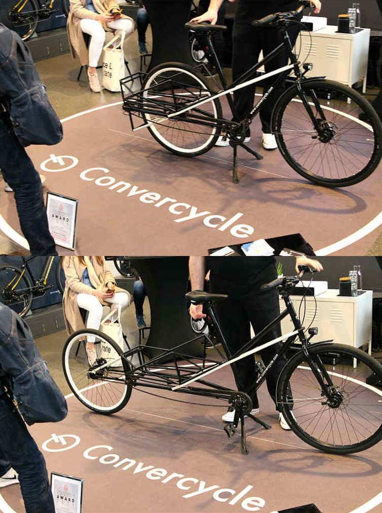 Convercycle, Das 2in1 Bike: City- und Cargobike in einem